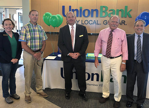 Photo left to right: Maureen Golden, Branch Manager; Steven Bourgeois, Director; David Silverman, President & CEO; Schuyler Sweet, Director; Ed Levite, Loan Center Manager
