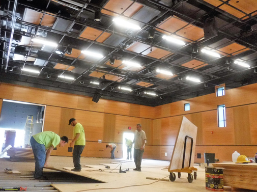 The interior of the Weston Playhouse's $6.3 million second home now under construction will hold up to 140 seats. Photo by Kevin O'Connor/VTDigger